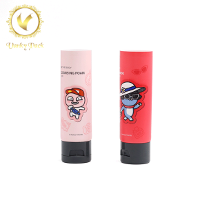 Sample tube packaging custom color cosmetic cream soft plastic tube