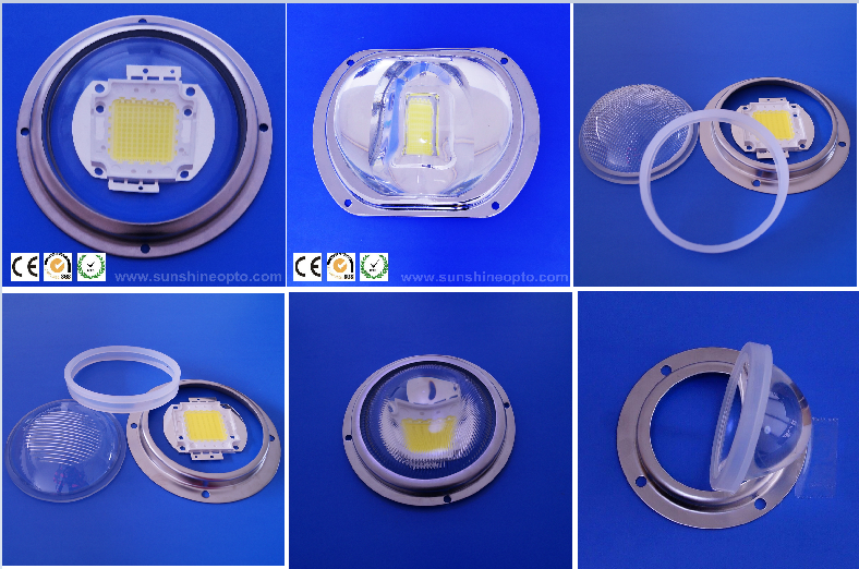 66mm Optical Plano Convex Led Glass Lens For Mining Lamp