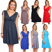 2016 Summer Maternity Dresses V-neck Sleeveless Knee-length Casual Clothing For Pregnant Women Pregnancy Clothing Vestidos