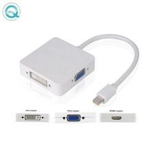 Mini DP auf <span class=keywords><strong>HDMI</strong></span> <span class=keywords><strong>DVI</strong></span> VGA <span class=keywords><strong>Adapter</strong></span>, <span class=keywords><strong>3</strong></span> in one Mini Display Port <span class=keywords><strong>Adapter</strong></span>