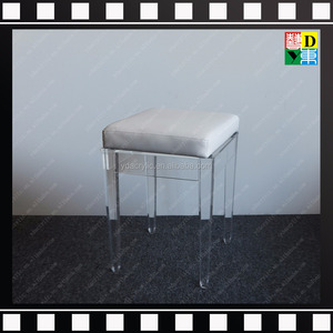 Clear Acrylic chair with cushion wholesale price from Guangdong