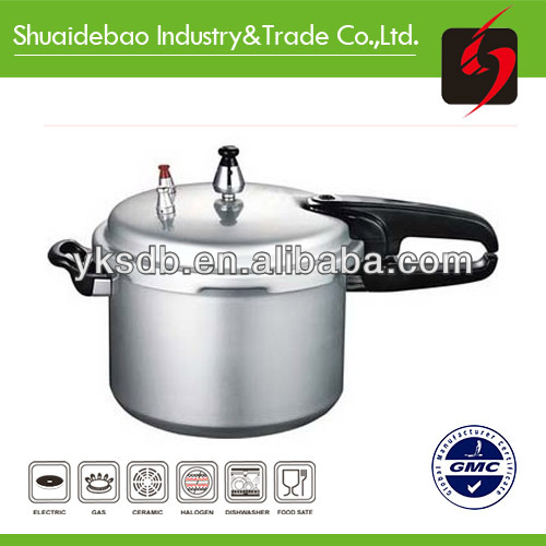 Aluminum pressure cooker with temperature control