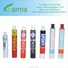 Customized Color Empty Collapsible Aluminum Tube for Packing Glue