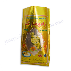 Customized foil laminated pp woven basmati rice packaging bag for seed,wheat,flour,grain,bean,peanuts