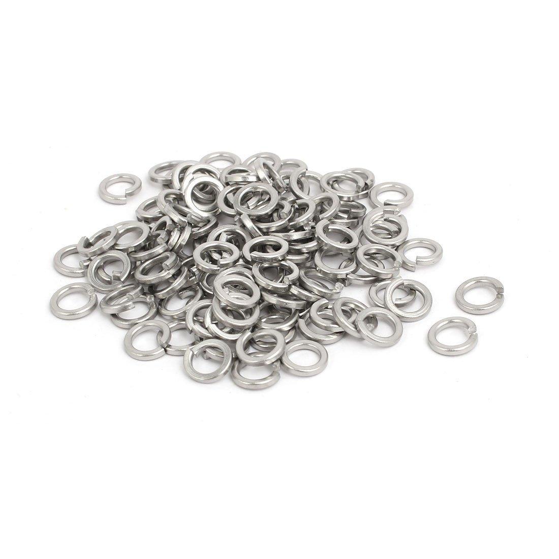 uxcell M5 Inner Diameter 304 Stainless Steel Split Lock Spring Washers Gasket 100pcs