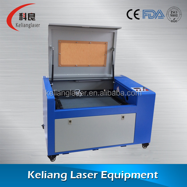 USB port water cooling co2 laser engraving machine kl-460 , co2 laser engraver for cutting paper/leather/wood/acrylic