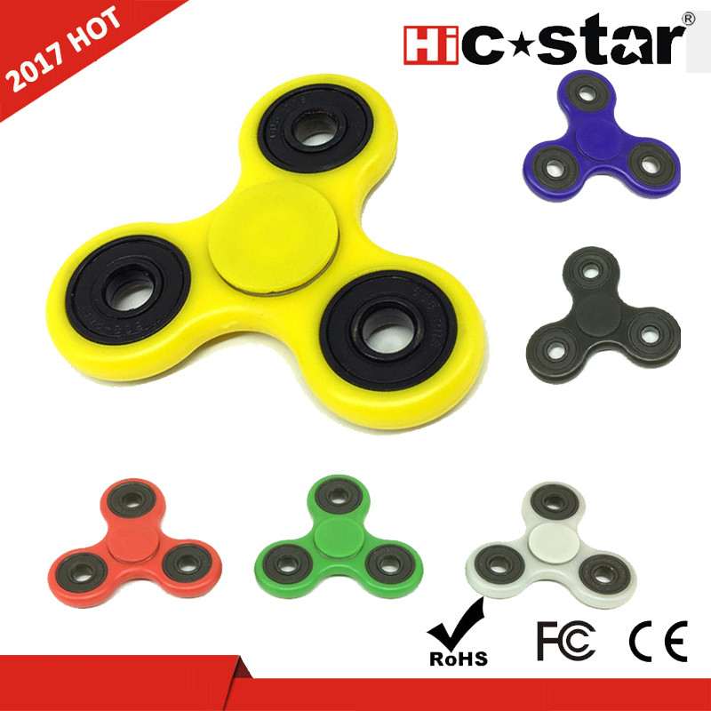 wholesale Fidget Tri-Spinner Toys Hand wind fight gold mini plastic a art pro spinner craft