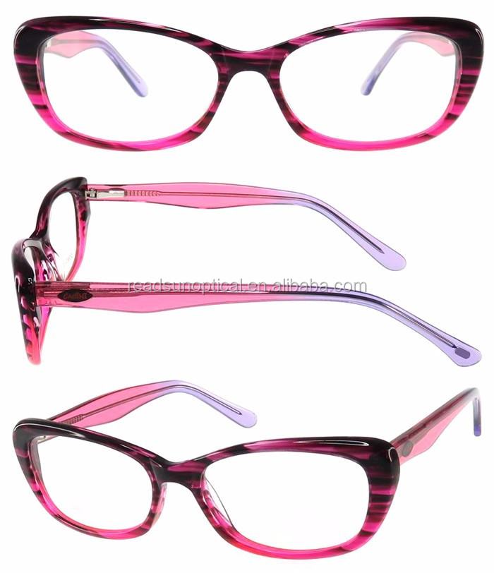 READSUN New style anti blue ray double color acetate optical frames