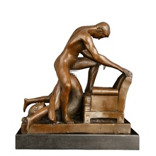 Small Size Bronze Nude Woman and Man sexy figure statue Home Decor Art For Sale Naked Statue Sculpture