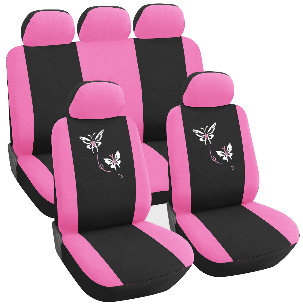 2017 New Design Butterfly Embroidery Cute Car Seat Covers For Cars
