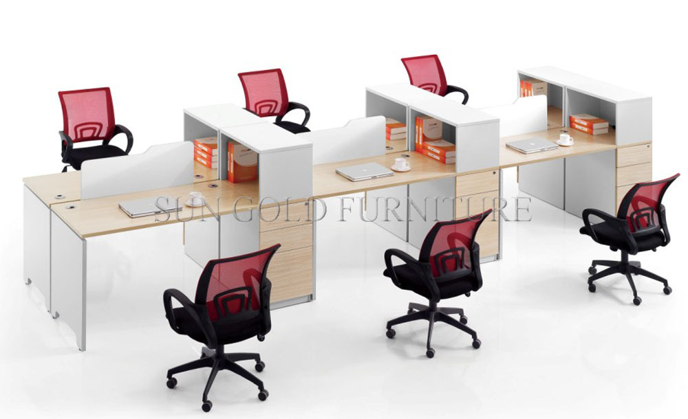 Modern Used Office Desk Types 4 Person Office Workstation Screen(SZ WS309)