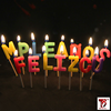 individual letter shaped candles feliz cumpleanos
