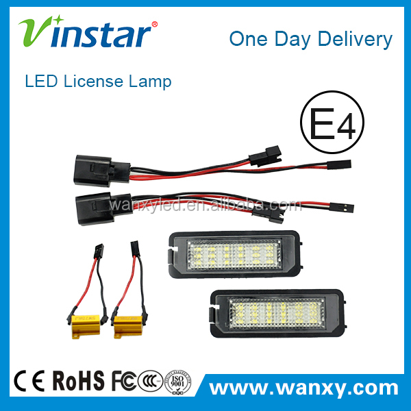 Vinstar Car accessories LED Number License Plate Light for Volkswagen Golf 5 Golf 6 MK5 Canbus