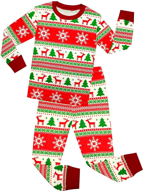 Get Quotations · Girls Santa Christmas Pajamas for Boys Cotton Clothes Kids  Pjs Toddler Sleepwear Pants Set ed041713b