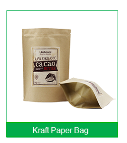 Food Packaging Double Wine Kraft Paper Bag With Window And Zipper
