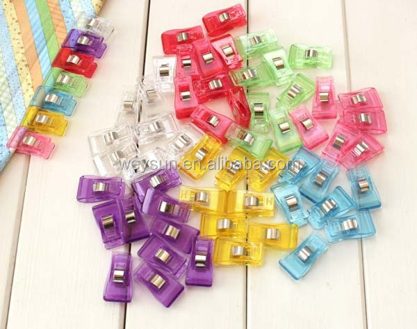 2000pcs PVC Plastic <strong>Clips</strong> For Patchwork Sewing DIY Crafts, Quilt Quilting <strong>Clip</strong> 3.5*1.8CM DHL Freeshipping