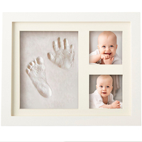 New arrival Air Dry CLAY Baby Child photo frame Foot Hand Print