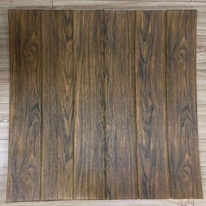 3d Wall Wood Like Design Foam Wallpaper