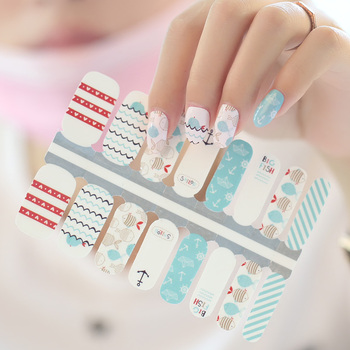 Korea Nail art sticker Custom Wraps nail art decoration sticker Non ...