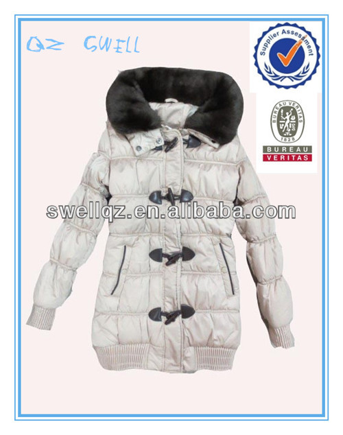 The latest new Fashion padding jacket with fur for ladies