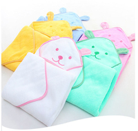 Hot sale soft high absorbent children toddler 100 % cotton hooded baby bath towel for kids