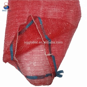 Manufacturer red mesh net bag for packing onions China