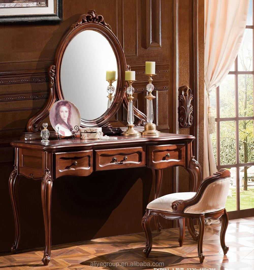Tyzd881 1 Luxury Dressing Makeup Table Wooden Dresser Set