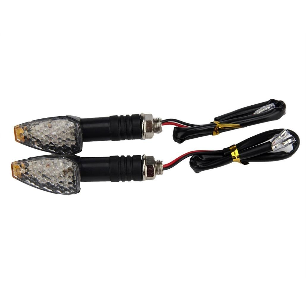 Efaster Unique 2pcs Mini Stalk Arrow Motorcycle LED Turn Signals Indicators Blinkers Lights Fit