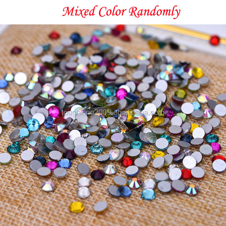 non hot fix crystal flat back mixed design color rhinestone for nail art