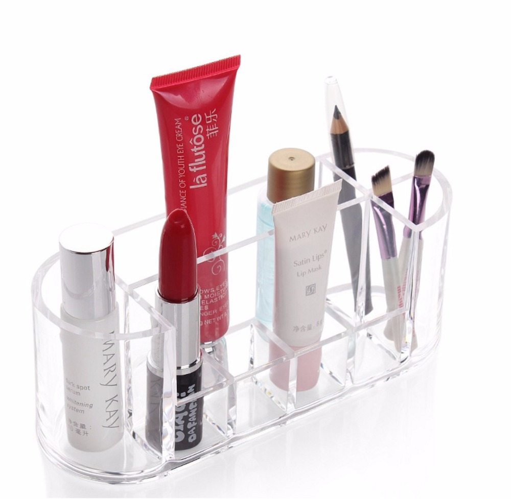 Transparent Cosmetic Eyeliner Lipstick holder Skin care products storage Acrylic Makeup Brush Organizer