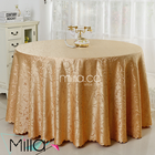 120inch polyester round damask table linen