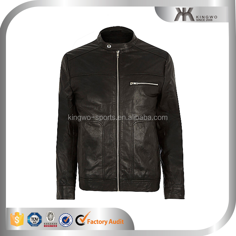 China Suppliers Men's PU Leather Jackets Wholesale Apparel Men's Clothing