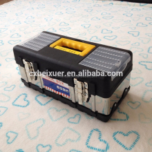 ningbo wholesale plastic general tool box with metal lock for trucks