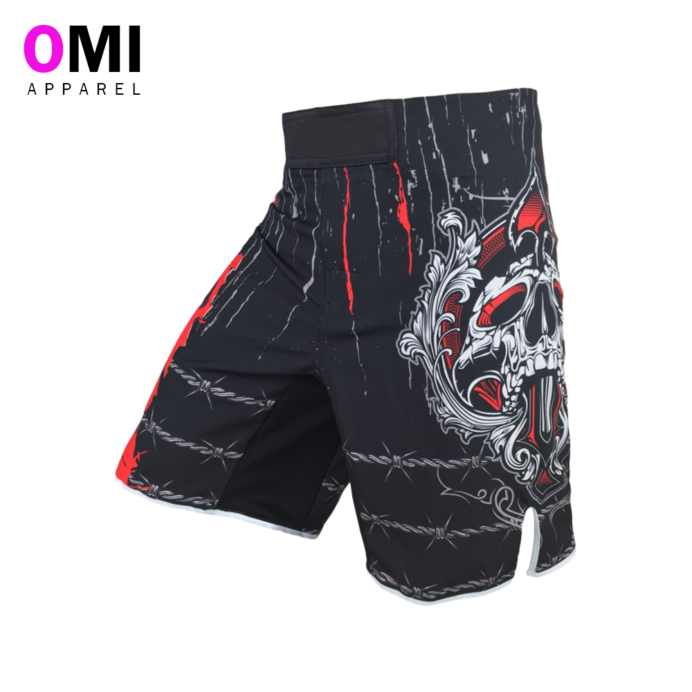 sublimated fight wear mma shorts with pockets