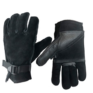 Horse Riding Gloves Cowhide Leather Safety Driving Gloves