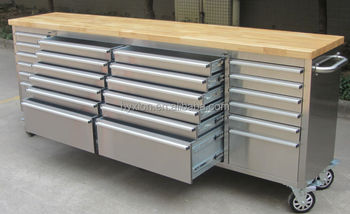 Hyxion Thor 96 Inch 24 Drawer Csps Stainless Steel Tool