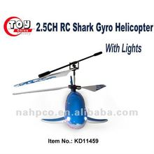 2.5CH Infrared RC Shark Gyro Helicopter With Lights 2 Colors Available