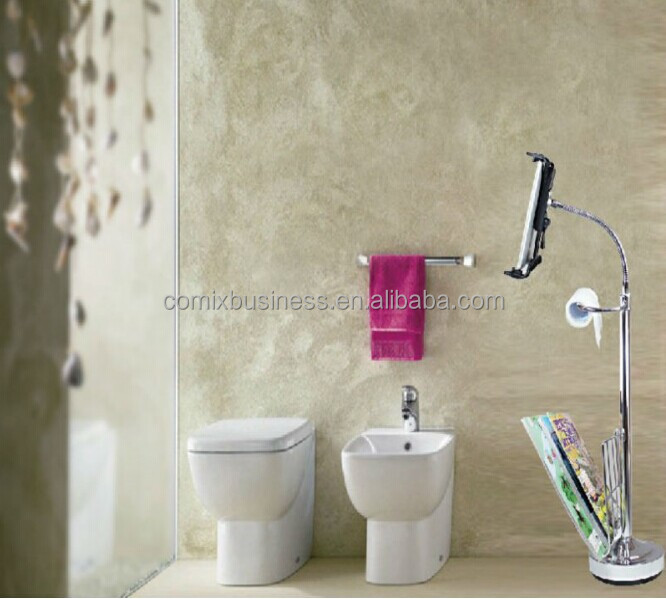 360 Rotating Aluminum Design Tablet Stand Toilet Paper