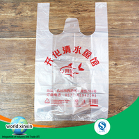HDPE t shirt bags customized print recyclable plastic take to go grocery bags