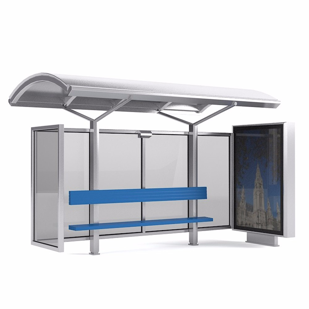product-City public modern Stainless steel structure bus stop shelter design-YEROO-img