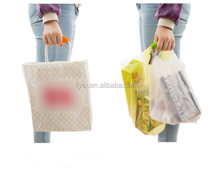 Promotional Supermarket Shopping Grips Silicone Bag Handle / Cover / Grip