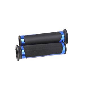 """New Chic Accessories Sport Universal 7/8"""" 22mm Cycle Sport Bikes Handlebar Hand Grips CNC Gel Rubber Blue"""