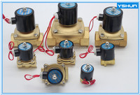 Factory low price brass normally closed valve solenoid, 220v normally closed valve