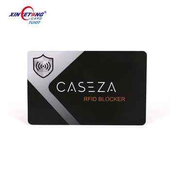 Customized design credit card protector rfid blocking card block RFID Nfc single