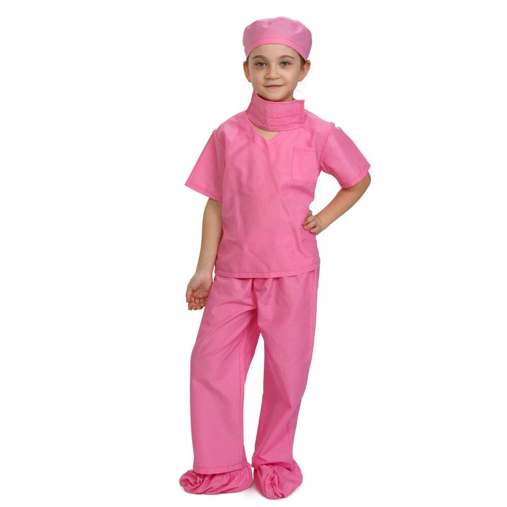 58cb6b7d235bc Dress Up America Pink Children Doctor Scrubs Toddler Costume Kids Doctor  Scrub's Pretend Play Outfit