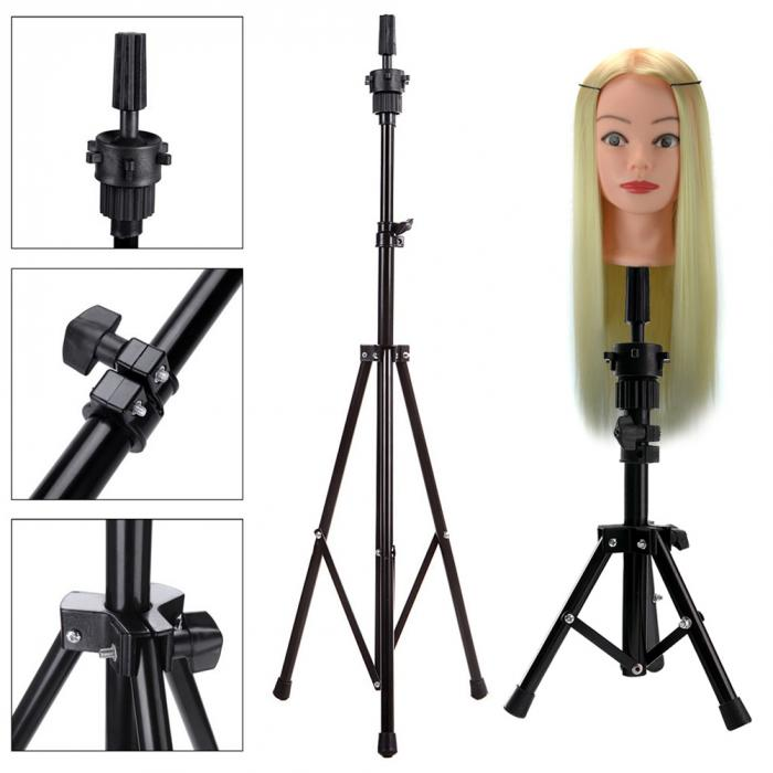 New Hot Headform Stent Prosthesis Doll Head Holder Wig Hair Model Head Tripod Bracket And Long Synthetic Hair Wig Droshipping Wig Stands Tools & Accessories