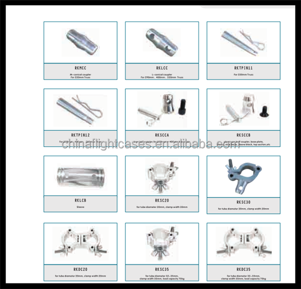 Lighting Truss Accessories --Hinger, Coupler, Pin, Clamp
