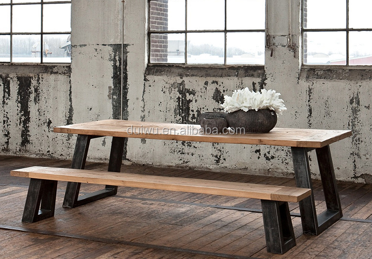 American country style shabby exotic wood dining table designs