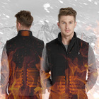 Men's Intelligent Heating Vest Winter Heated Jacket Sleeveless Shirt Winter Vest Signaling Vest with LEDs