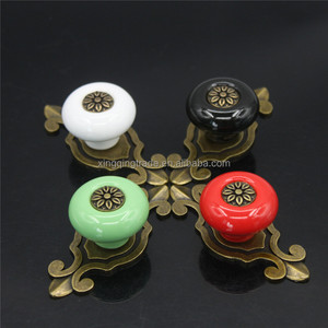 Vintage Furniture Handles Furniture Fitting Ceramic Cabinet Knobs and Handles Door Knob Cupboard Drawer Kitchen Pull Handles